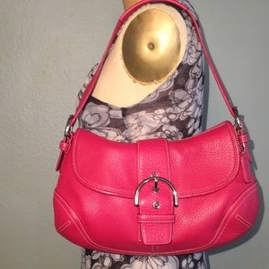 Coach Soho Mini Hobo in hot pink leather
